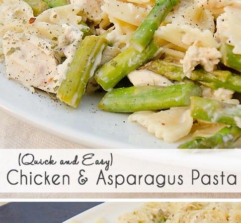 Creamy Chicken and Asparagus Pasta