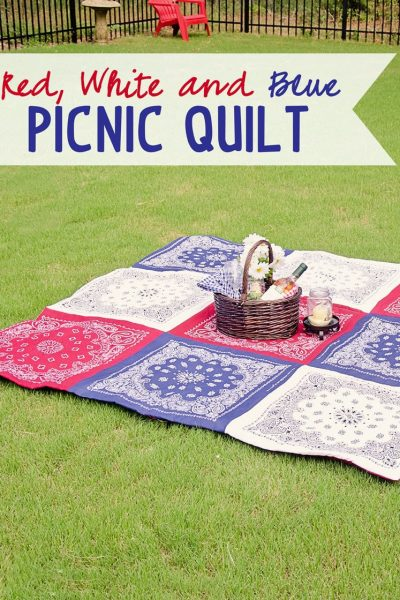 Red White and Blue Bandana Quilt