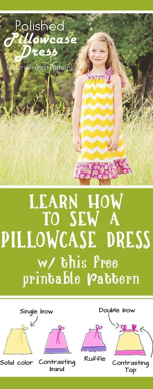 How to make a pillowcase dress - learn how to sew a Pillowcase Dress with this free pattern and tutorial! #pillowcasedress #pillowcasedresspattern #sewing #howtomakeapillowcasedress #learnhowtosew #freepattern #freepillowcasedresspattern #charitysewing