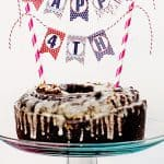 Red White and Blue Patriotic Mini Cake Bunting (free printable)