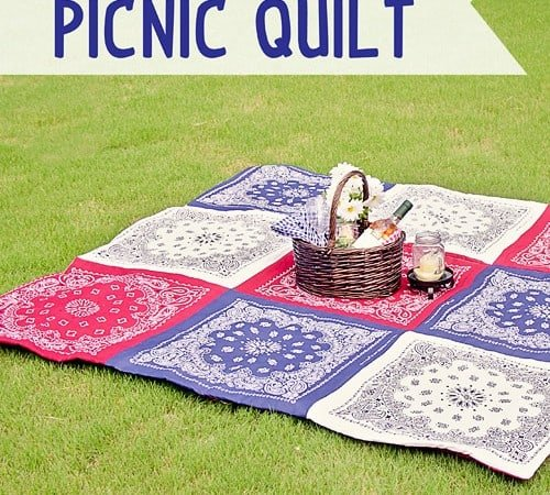 Red White and Blue Picnic Quilt