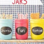 Use these Summer Activity Jars to keep the kids happy and engaged with fun activities, chores and exercise with less whining!