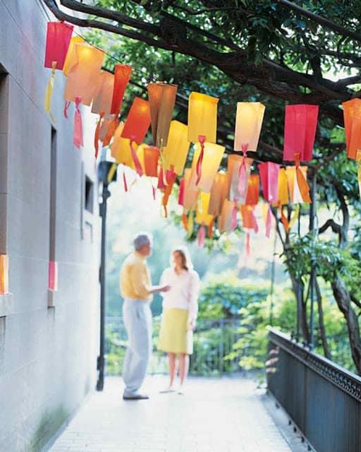 outdoor lighting ideas for a wedding
