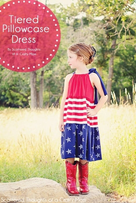 Tiered Pillowcase Dress For the 4th of July!