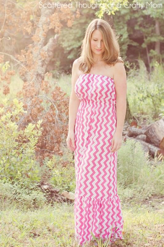 2 tier maxi dress diy