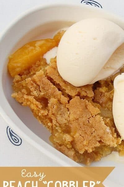 Easiest Peach Cobbler Ever