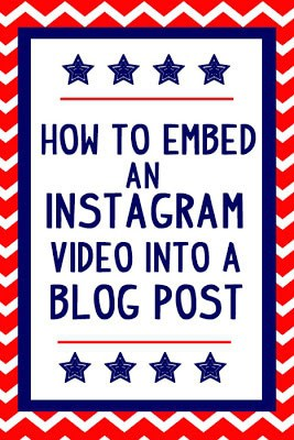 How to embed an instagram video into a bog post