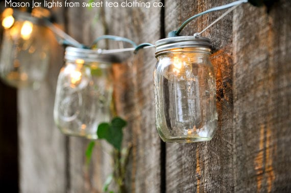 hanging outdoor garden lights