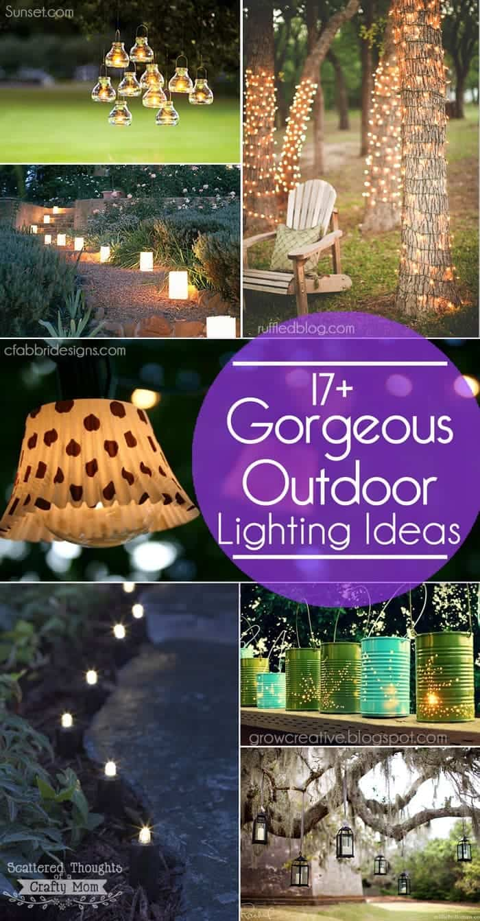 17 outdoor lighting ideas for the garden scattered thoughts of a 17 gorgeous and easy to duplicate outdoor lighting ideas for your garden or patio workwithnaturefo