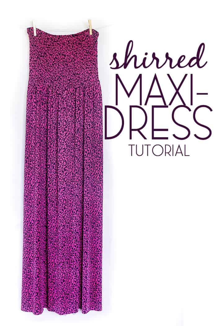 shirred maxi dress tutorial