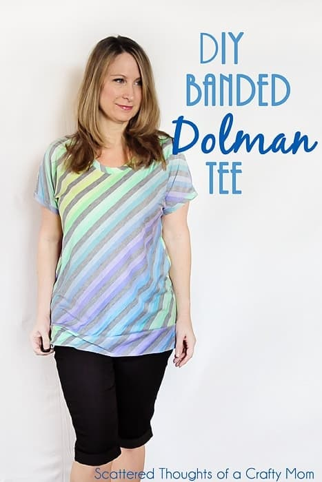 How to make a Dolman-Style T-shit from a self drafted pattern.  (All you need is a few supplies and a t-shirt you love. You will be surprised at how easy it is. No reason to spend money on a such a simple pattern- you can totally make your own!)