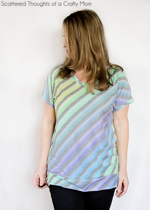 How to make a Dolman T-Shirt without a pattern.  Learn how to make a Dolman T-shirt without a pattern!