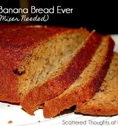 Friday Flashback: Easiest Banana Bread Ever (no mixer method)