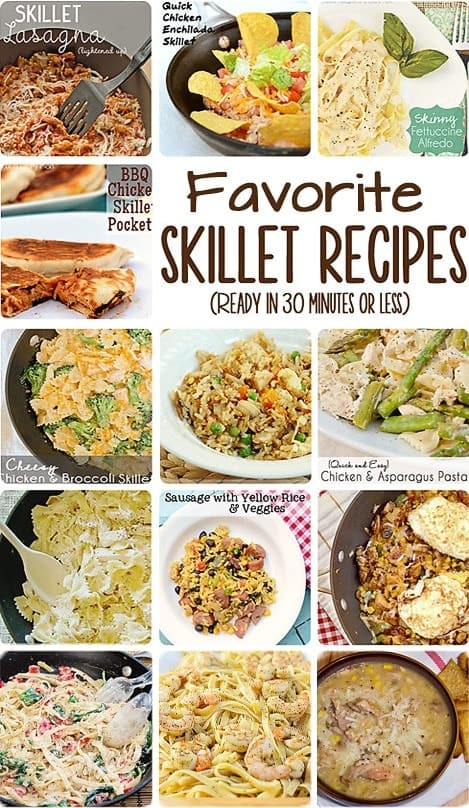 Favorite Quick and Easy Skillet Meals: I will definitely be adding these to my dinner rotation for busy nights! #skillet #recipes