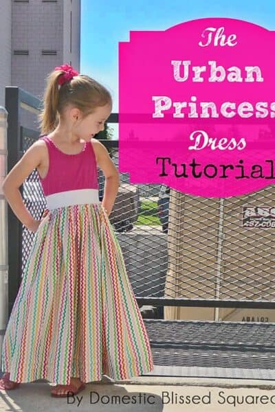 This DIY Tank Dress Tutorial is a perfect beginners sewing project!  This easy sewing tutorial teaches you how to make a dress from a tank top.