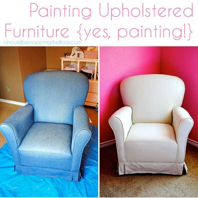 Guest post: Painting Upholstered Furniture from i should be mopping the floor