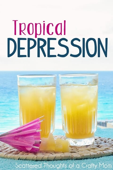 Tropical Drink of the Day: The Tropical Depression. Tropical drink with vodka and fruit juices.