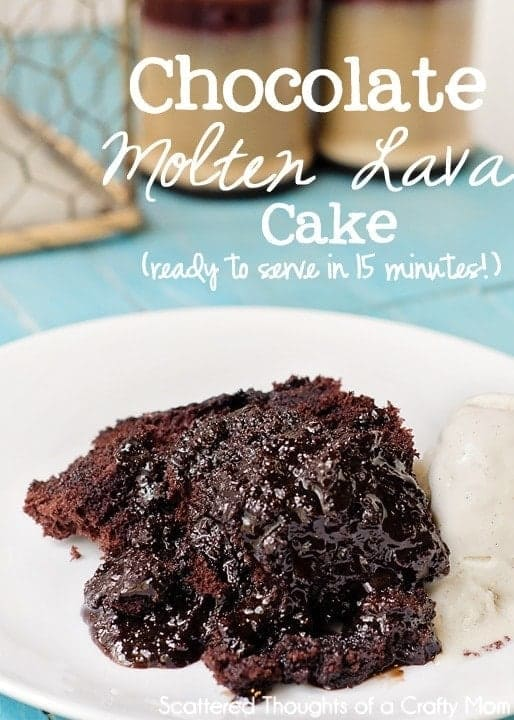 My favorite pampered chef lava cake recipe: This Microwave Chocolate Molten Lava Cake cake is super easy to throw together and only takes about 15 minutes to make!