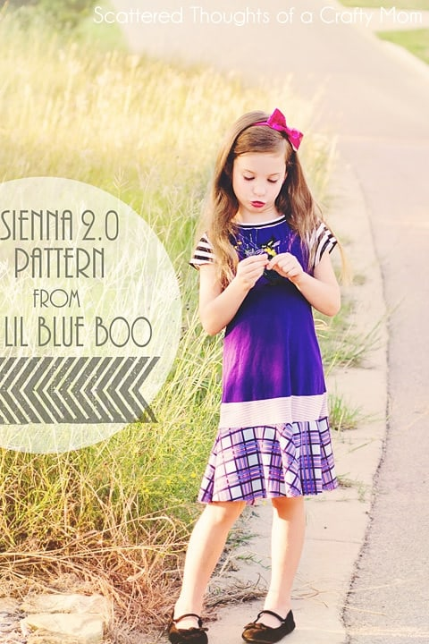 Scattered Thoughts of a Crafty Mom: Halloween Dress: The Sienna 2.0 dress and pattern review.
