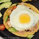 Everything is Better with a Fried Egg on Top (especially this Chicken and Bean Tostada…)