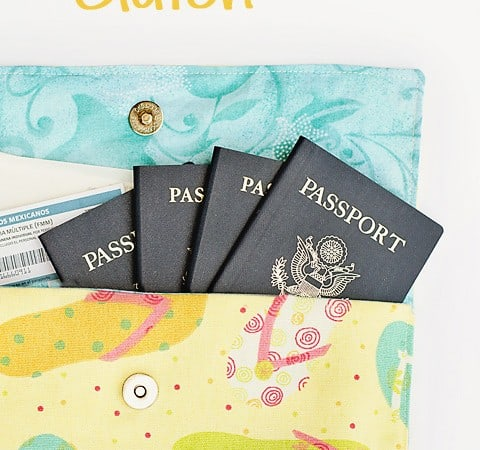 DIY Travel Document Clutch (or any type of clutch…)