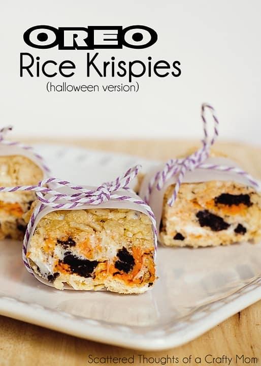 Halloween Treats: Oreo Rice Krispies