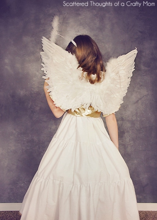 DIY Angel costume for Halloween. (free pattern and tutorial)