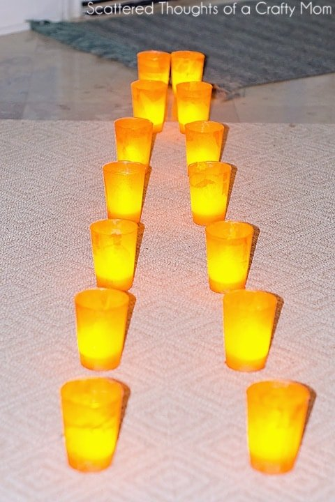 easy sidewalk lantern craft for kids