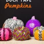 how to make duck tape pumpkins