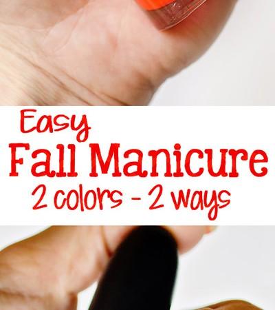 2 Easy, High Impact Fall Nail Polish Ideas