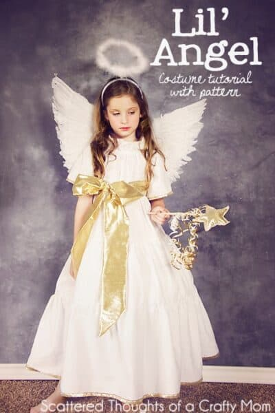 DIY Angel Costume: Learn how to make an Angel Costume with this DIY Angel Costume Tutorial and free pattern!