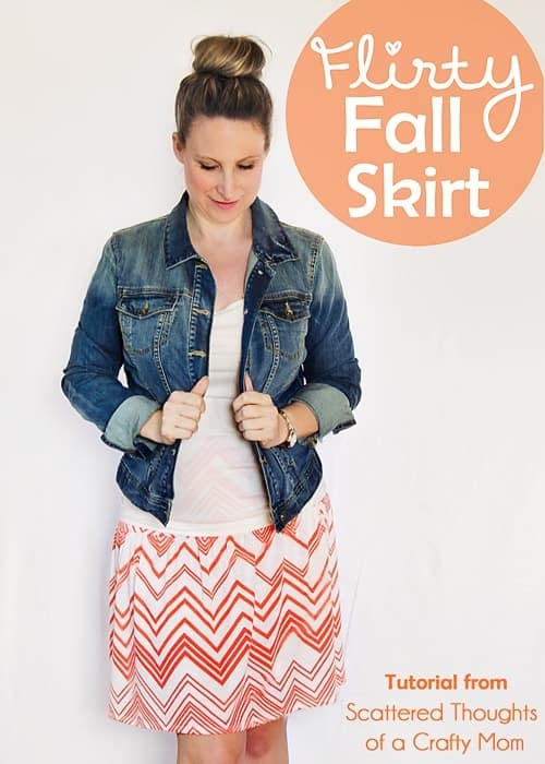 Learn how to sew a flattering, flirty skirt for all sizes in this super simple tutorial.