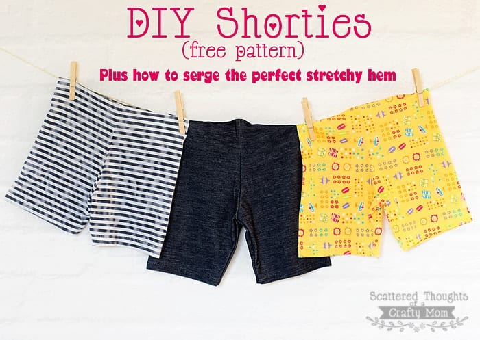 Free Shortie Pattern How To Serge A Stretchy Hem Using The Blind