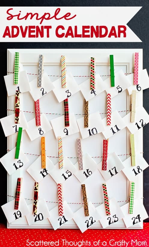 November Calendar Diy : Make a simple advent calendar scattered thoughts of