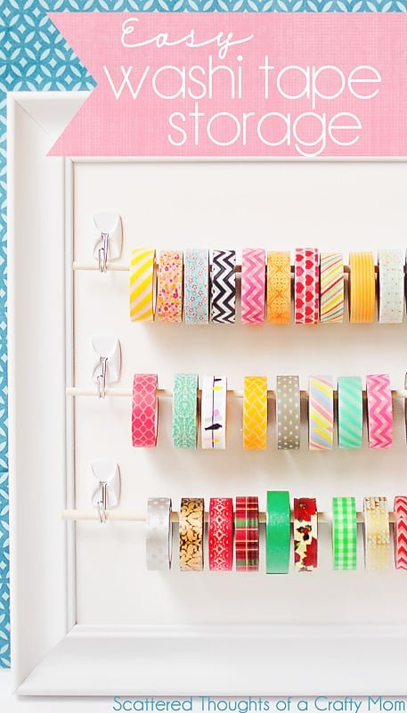 Easy washi tape storage scattered thoughts of a crafty for Diy room decor ideas you never thought of