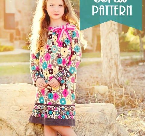 Pattern Update: Long Sleeve Peasant Dress