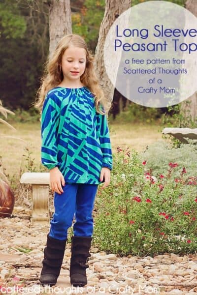 Free pattern: Long sleeve peasant top