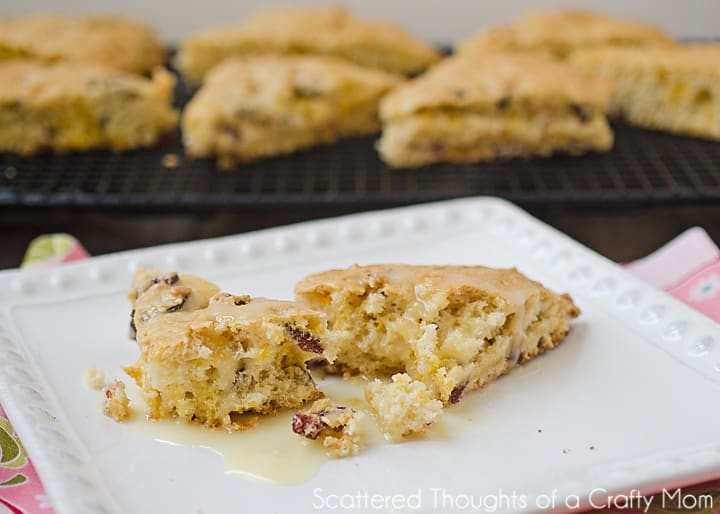 Cranberry orange scones secret recipe club scattered thoughts of back when i had an office job i was a very frequent starbucks customer one of my favorite treats was their cranberry orange scones forumfinder Image collections