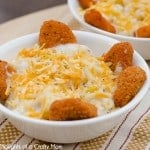 Chicken Nugget Mashed Potato Bowls -Kids love this meal!