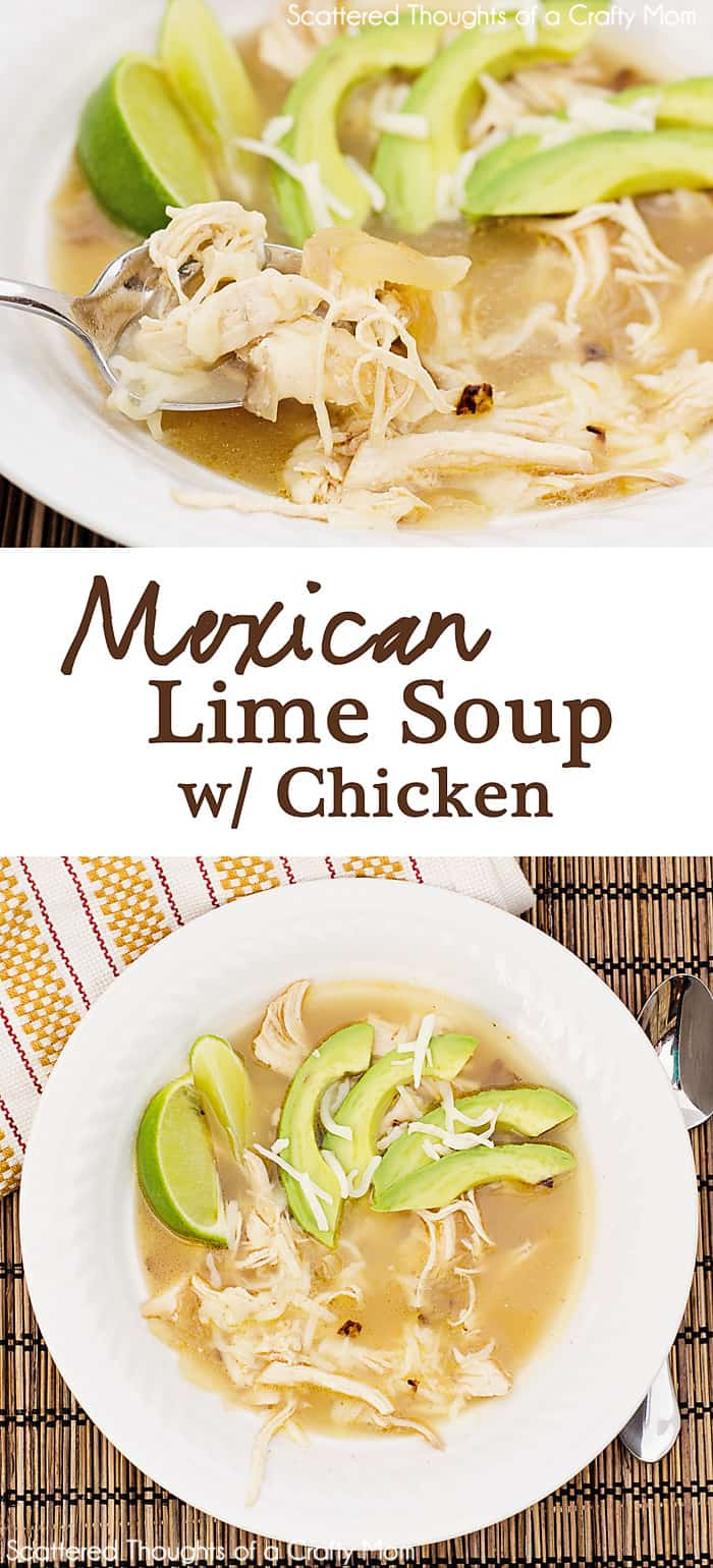 Easy Mexican Lime Soup with Chicken recipe