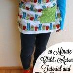 10 Minute Child's Apron Tutorial w/ free pattern