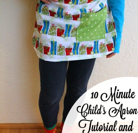 10 Minute Child's Apron Tutorial w/ free pattern