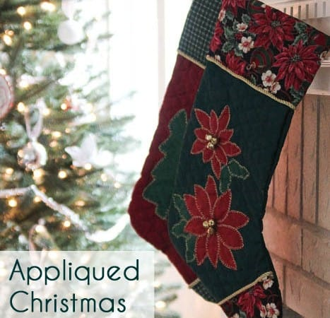 Appliqued Stocking Tutorial with a Free Pattern