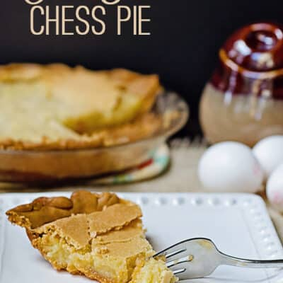 old fashioned chess pie recipe