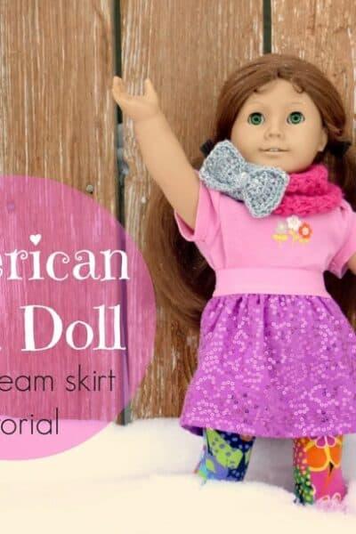 Gift Idea: American Girl Doll Skirt Tutorial