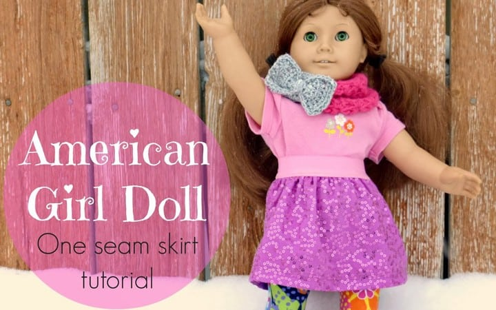 Gift Idea: American Girl Doll Skirt Tutorial