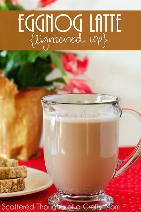Make a homemade eggnog latte with this yummy, lightened up eggnog recipe.