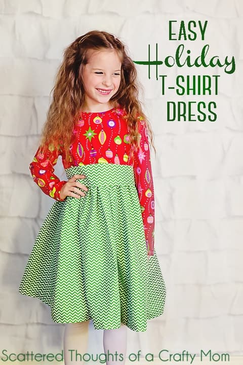 Holiday Twirly T-shirt sewing Pattern