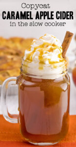 Caramel apple cider recipe in the slow cooker