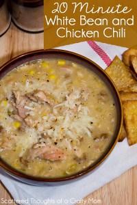 Easy 20 Minute White Chicken Chili Recipe